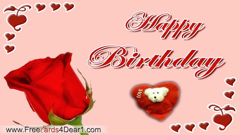 Birthday Greeting Ecard For Love Cards