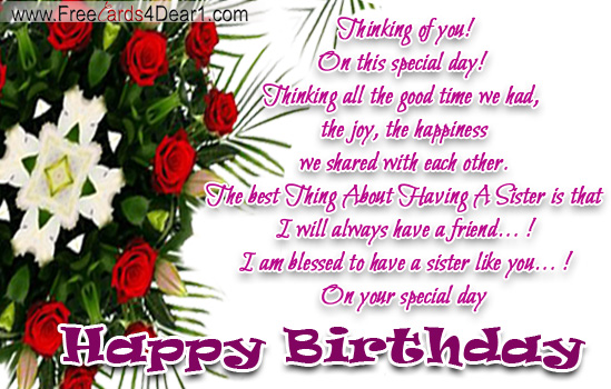 Index Of Wp Content Gallery Birthday Ecard For Sister